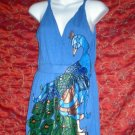 Custom order  Peacock in Blue Dress size medium