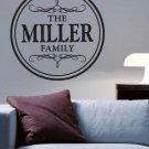 Custom Family Vinyl Wall Lettering Words Art Rub On Letters