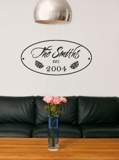 Custom Family Vinyl Lettering Wall Art Words Rub On Letters