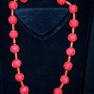 Tibetan Carved Cinnabar with matching bracelet