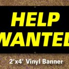 Help Wanted Banner 2x4 ft