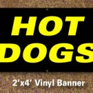 Hot Dogs Banner 2x4 ft