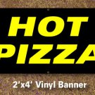 Hot Pizza Banner 2x4 ft