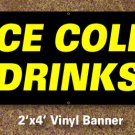 Ice Cold Drinks Banner 2x4 ft