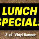 Lunch Specials Banner 2x4 ft