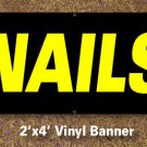 Nails Banner 2x4 ft
