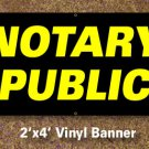 Notary Public Banner 2x4 ft