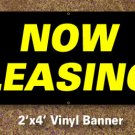 Now Leasing Banner 2x4 ft
