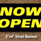 Now Open Banner 2x4 ft