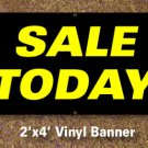 Sale Today Banner 2x4 ft