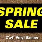 Spring Sale Banner 2x4 ft