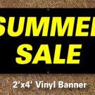 Summer Sale Banner 2x4 ft