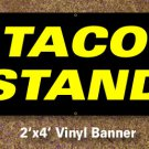Taco Stand Banner 2x4 ft