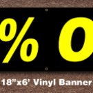 10% OFF Banner 18 inch x 6 ft