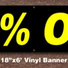 50% OFF Banner 18 inch x 6 ft
