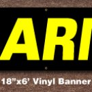 Alarms Banner 18 inch x 6 ft