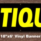 Antiques Banner 18 inch x 6 ft