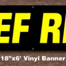 BEEF RIBS Banner 18 inch x 6 ft