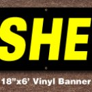 Cashews Banner 18 inch x 6 ft