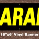 Clearance Banner 18 inch x 6 ft