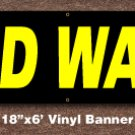 Cold Water Banner 18 inch x 6 ft