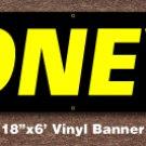 Coneys Banner 18 inch x 6 ft