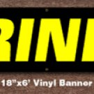Drinks Banner 18 inch x 6 ft