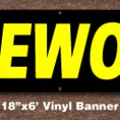 Firewood Banner 18 inch x 6 ft