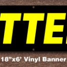 Lottery Banner 18 inch x 6 ft