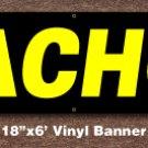 Nachos Banner 18 inch x 6 ft