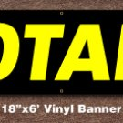 Notary Banner 18 inch x 6 ft