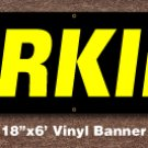 Parking Banner 18 inch x 6 ft
