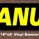 Peanuts Banner 18 inch x 6 ft