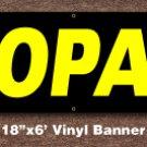 Propane Banner 18 inch x 6 ft