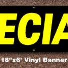 Specials Banner 18 inch x 6 ft
