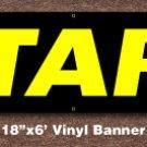 Start Banner 18 inch x 6 ft