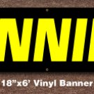 Tanning Banner 18 inch x 6 ft