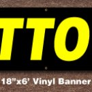 Tattoos Banner 18 inch x 6 ft