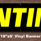 Tinting Banner 18 inch x 6 ft