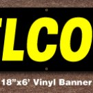 Welcome Banner 18 inch x 6 ft
