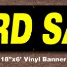 Yard Sale Banner 18 inch x 6 ft
