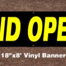 Grand Opening Banner 18 inch x 8 ft