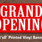 Grand Opening Banner Sign Ornamental 4x8 ft