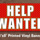 Help Wanted Sign Banner 4x8 ft