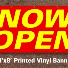 Now Open Banner Sign 4x8 ft