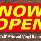 Now Open Banner 3x6 ft