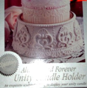 NIB Wilton Always and Forever Unity Candle Holder