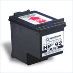 Remanufactured Black Ink Cartridge - replaces HP C9362WN (HP 92) - get two for the price of one -
