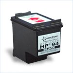 HP C8765WN (HP 94) Black Ink Cartridge Remanufactured - get two for the price of one -
