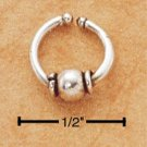 RG124-STERLING SILVER BELLY CLIP WITH CENTER BALL